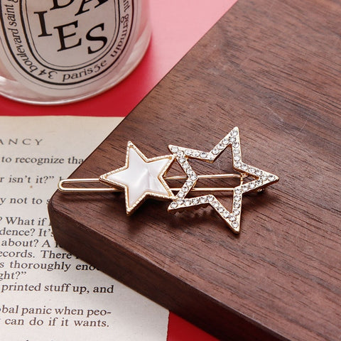 Acetate Round Star Alloy Hair Clip - Daily Kreative - Kreative products for beauty and healthy living