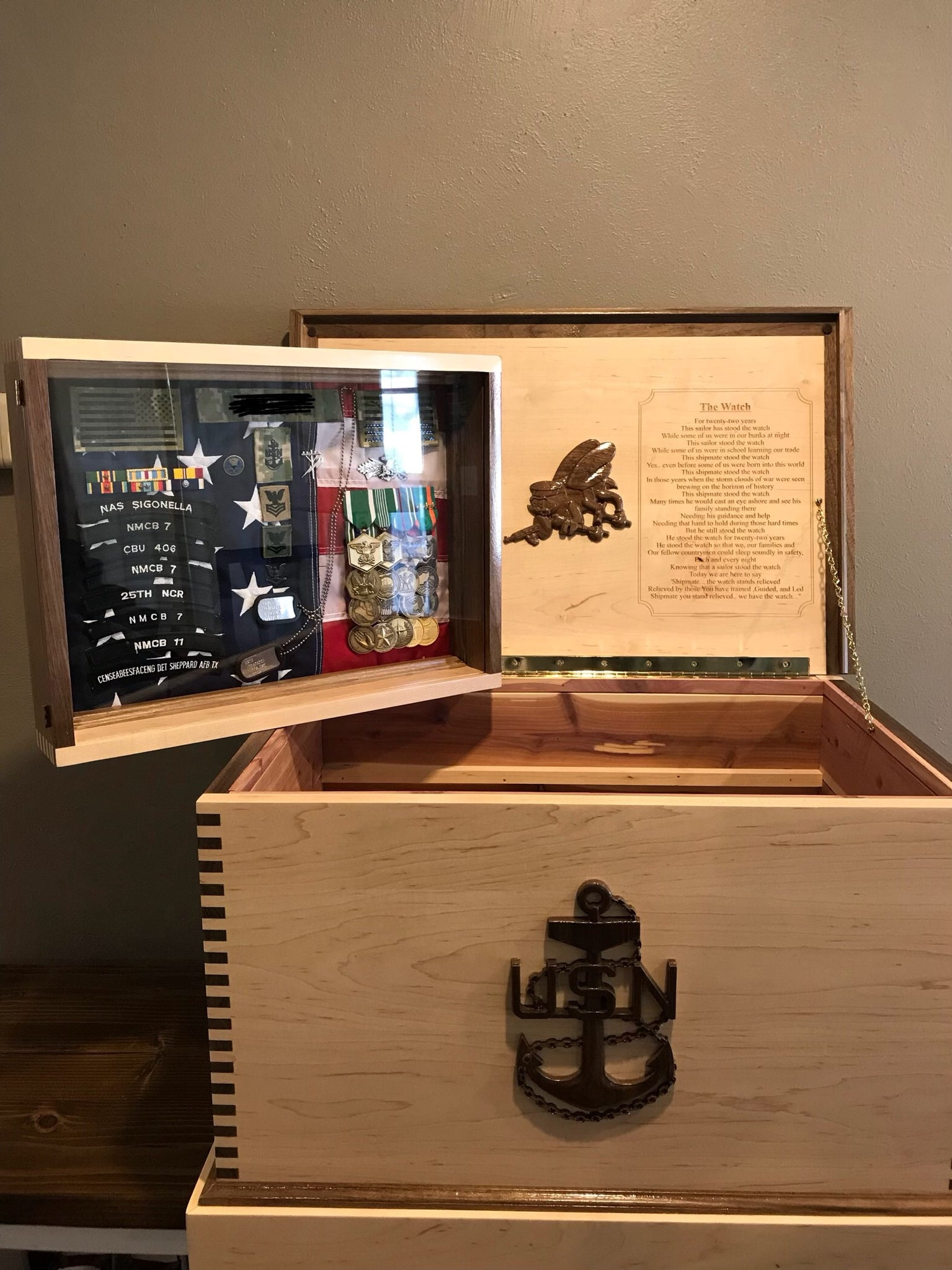 Military Retirement Sea Chest