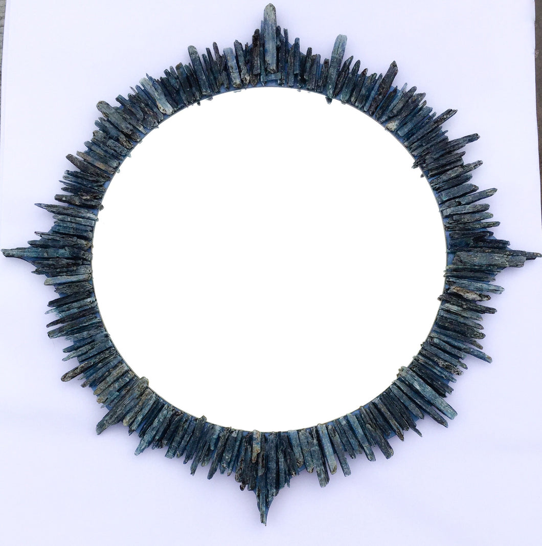 Kyanite mosaic mirror