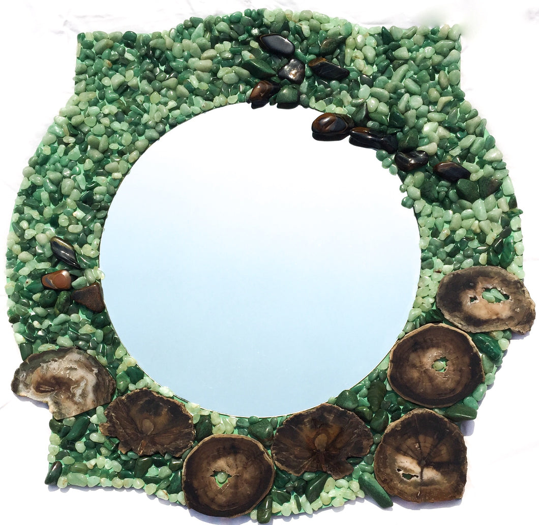 Ancient Tree | Mosaic Mirror