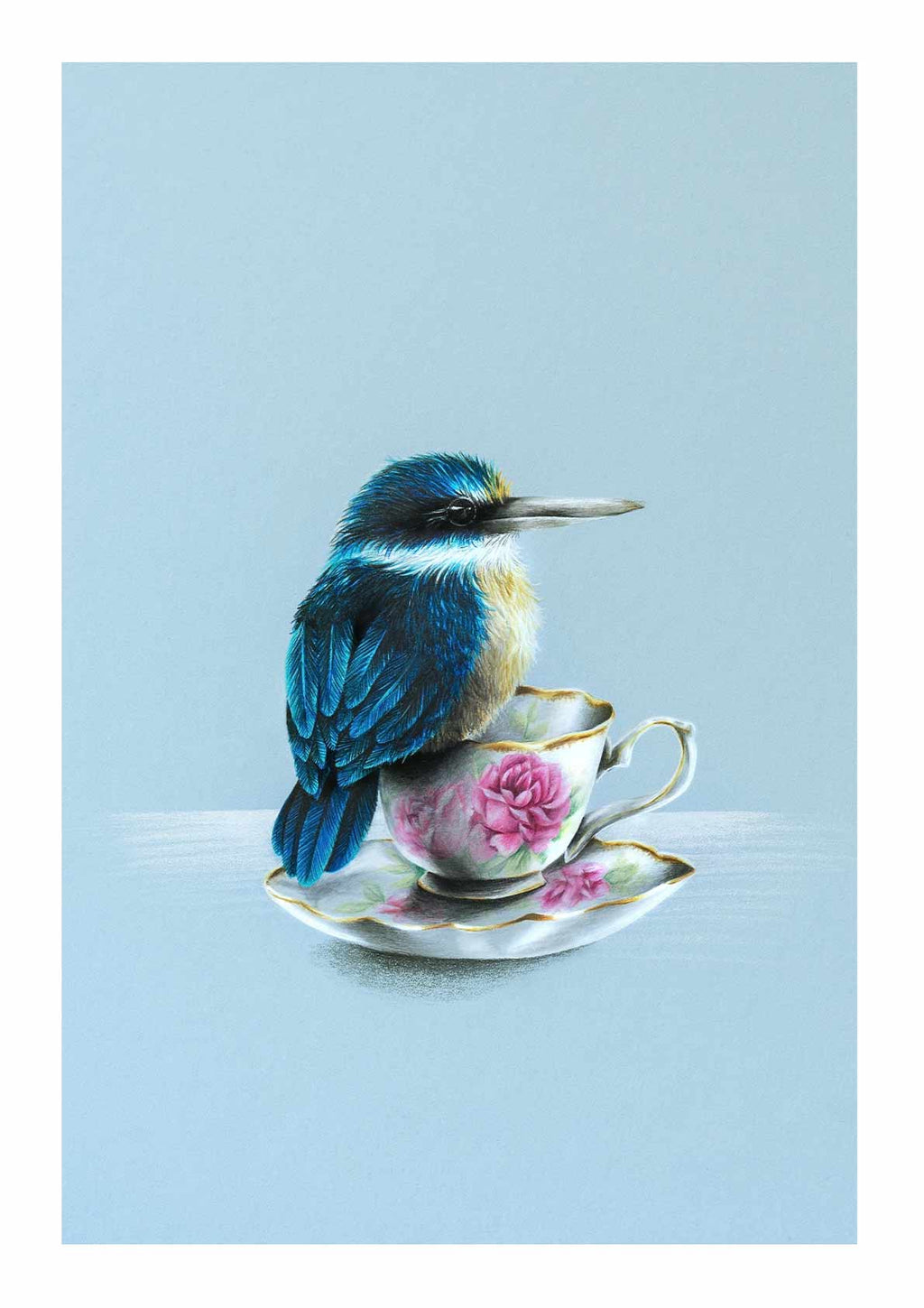 Kingfisher on a Teacup