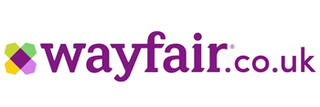 Wayfair Logo Displayed. Clicking Logo Takes User to Wayfair Online Store.