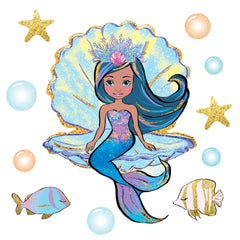 Mermaid wall sticker decals on a white background.