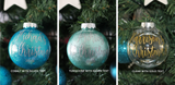 Baby's 1st Christmas Ornament - 8cm Shatterproof Xmas Bauble
