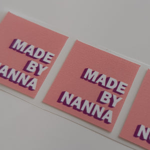 Made By Nanna - 2cm Square Iron on sewing labels