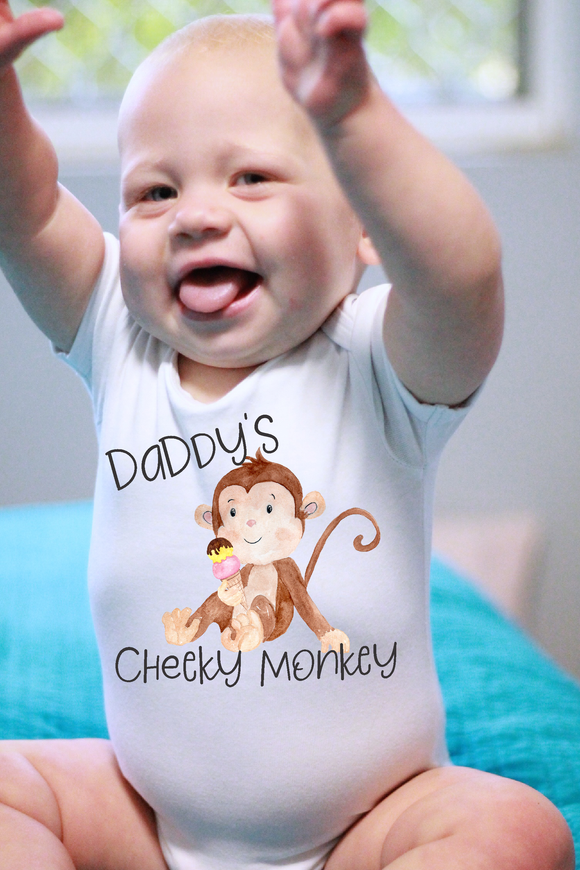 Daddy's Cheeky Monkey Bodysuit