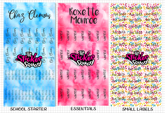 Sticker Name Labels