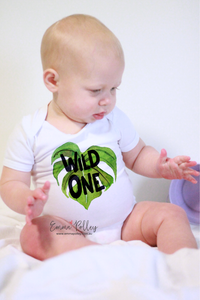 Tropical 'Wild One' First Birthday Bodysuit