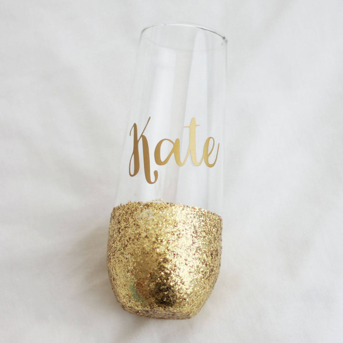 PERSONALISED Glitter Wine Glass Birthday Gift For Her 18th 21st 30th