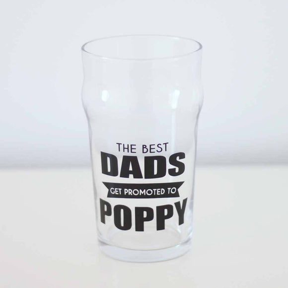 Dad gift, Father's Day gift, gift for poppy, Granddad Poppy Pop British Pint Glass, Beer Glass, Pregnancy annoucement to dad, etched glass