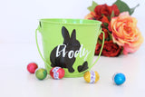 Pink personalised Easter Bucket - Rabbit Silhouette