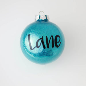 Personalised 8cm Christmas Bauble
