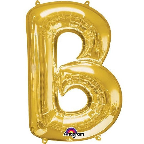 "GOLD LETTER ""B"" BALLOON"