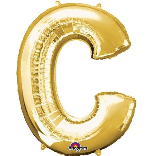 "GOLD LETTER ""C"" BALLOON"