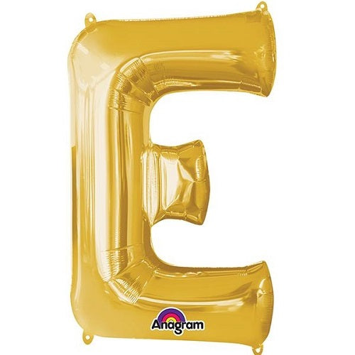 "GOLD LETTER ""E"" BALLOON"
