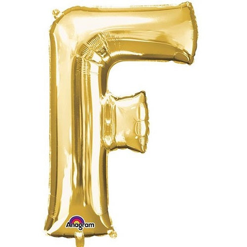 "GOLD LETTER ""F"" BALLOON"