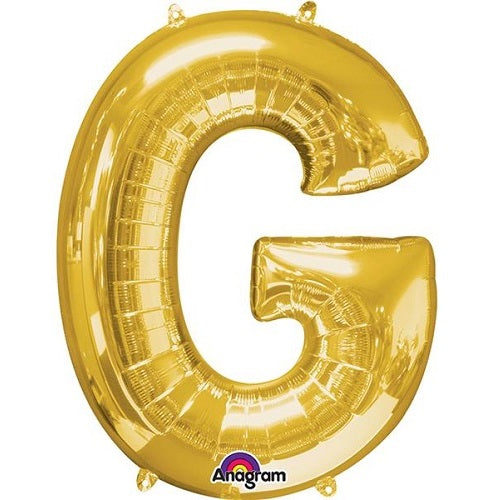 "GOLD LETTER ""G"" BALLOON"