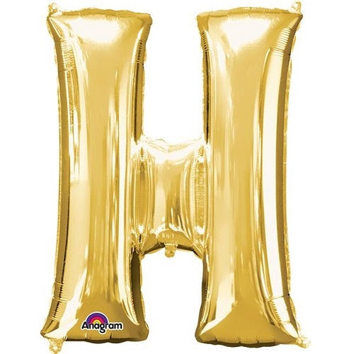 "GOLD LETTER ""H"" BALLOON"