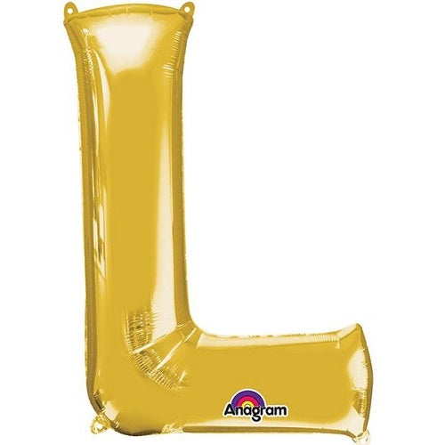 "GOLD LETTER ""L"" BALLOON"
