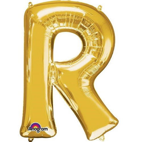 "GOLD LETTER ""R"" BALLOON"
