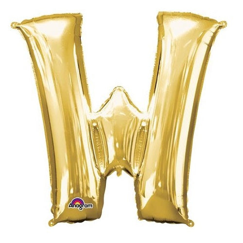 "GOLD LETTER ""W"" BALLOON"