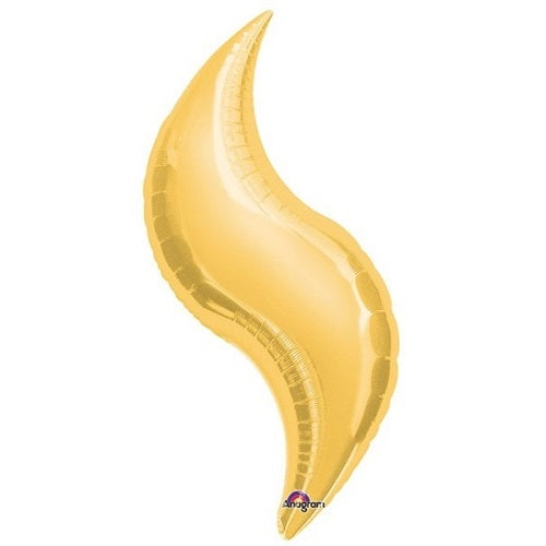 GOLD CURVE BALLOON 19 inches