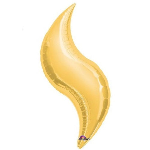 GOLD CURVE BALLOON 28 inches