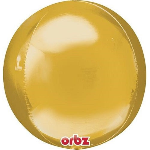 GOLD ORBZ BALLOON 16 inches