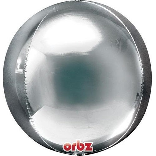 SILVER ORBZ BALLOON 16 inches