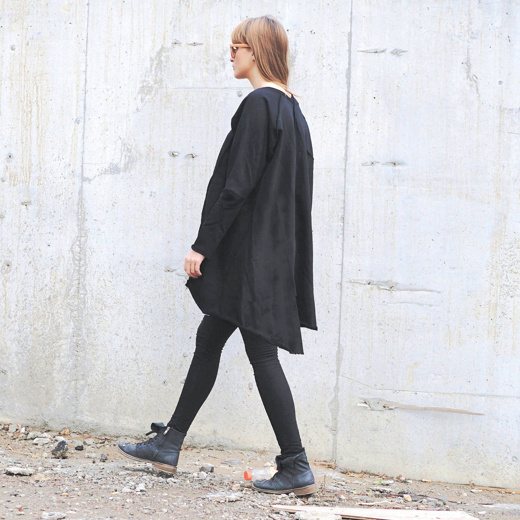 Lagenlook Oversized Sweatshirt