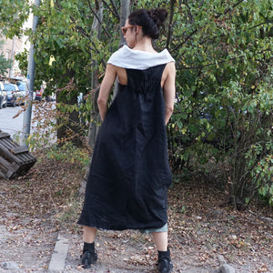 Asymmetrical Heavy Linen Coat