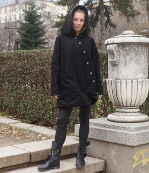 Cashmere Oversized Black Coat