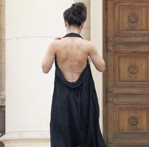 Open Back Black Jumpsuit