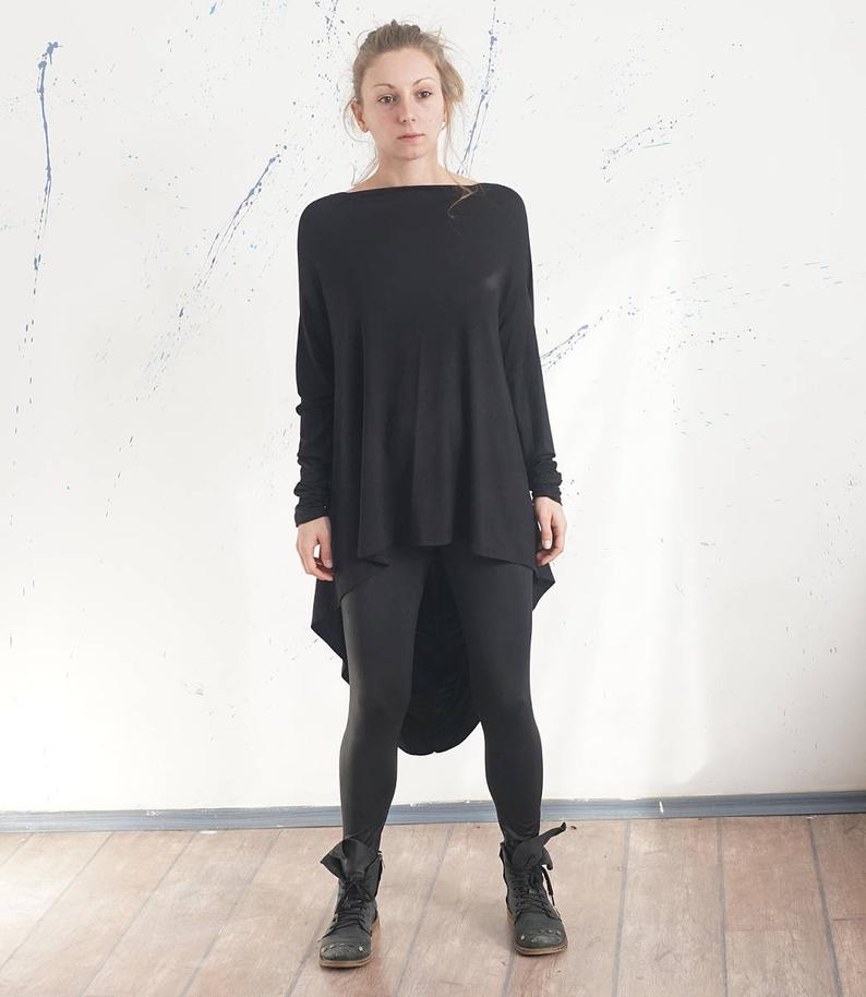 Loose Black Party Tunic