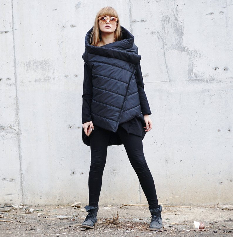 Padded Sleeveless Coat Parka