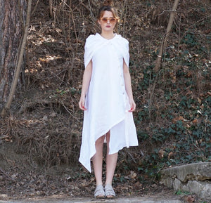 Linen Hooded Dress Tunic