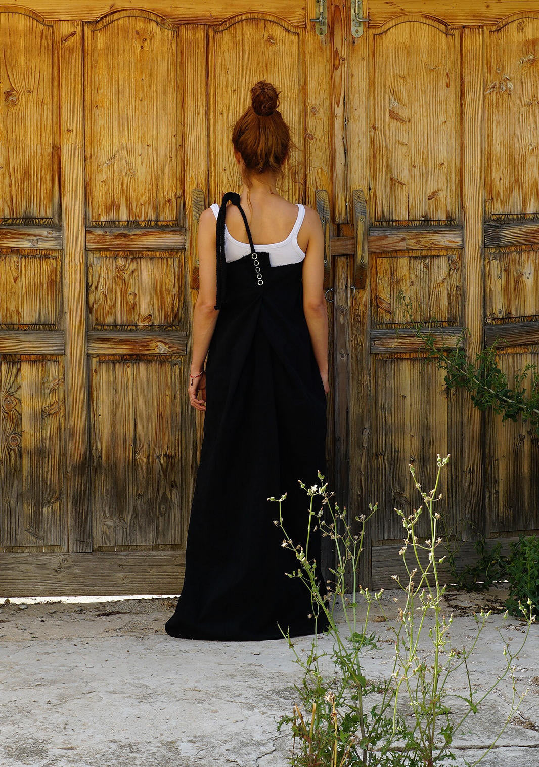 Maxi Pinafore Dress