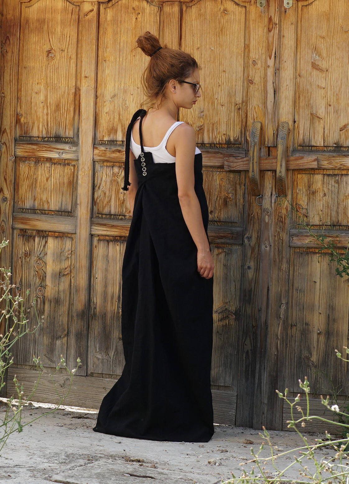 Abaya Maxi Pinafore Dress