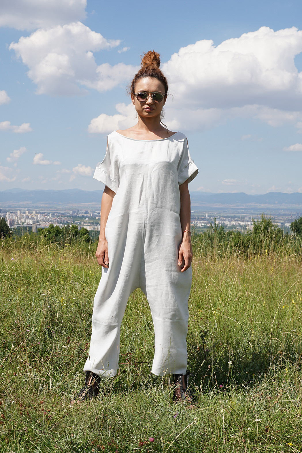 Linen Baggy Overall