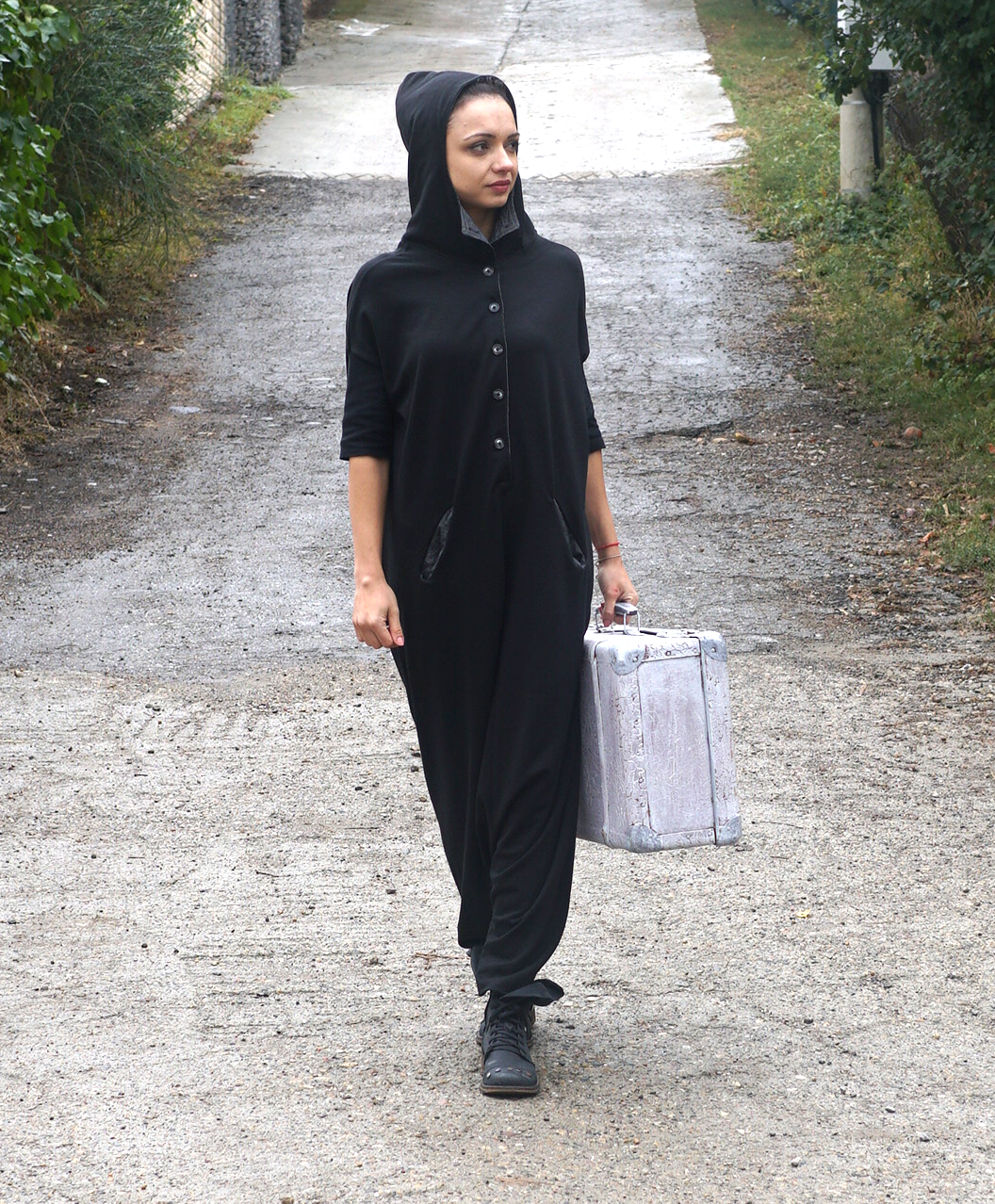 Maxi Black Baggy Jumpsuit