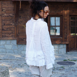 Ruffled Linen Shirt