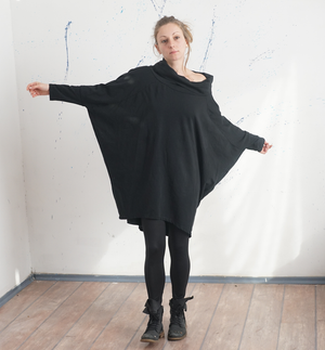 Oversized Black Dress Tunic