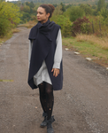 Cashmire Black Sleeveless Handmade Coat