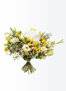 Sunny white and yellow bouquet