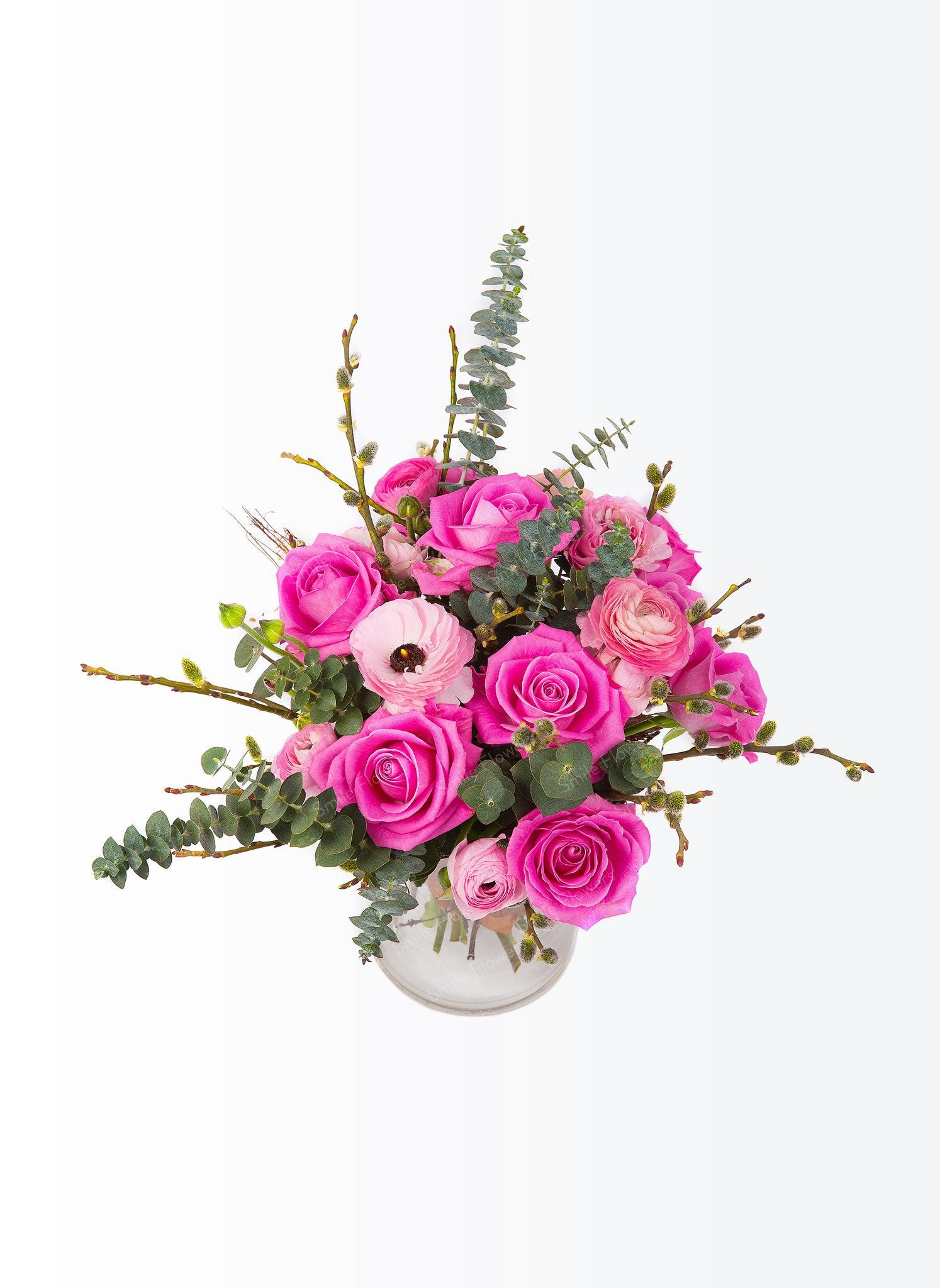 Sweet pink color a bouquet