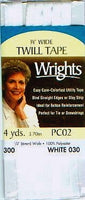 "Wrights Packaged Twill Tape - 1/4"" Width"
