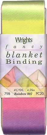 "Wrights Printed Blanket Binding - 2"" Folded Width & 4 3/4 Yards"