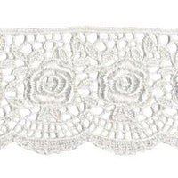 Wrights Scalloped Rose Venice - 1 3/4""