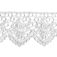 Wrights Scalloped Rose Venice - 1 1/2""