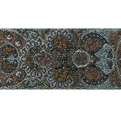Wrights Woven Paisley Brown with Metallic - 1 1/4""